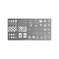 Plaque de stamping Love