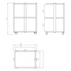 Carrito 3 estanterias Facile
