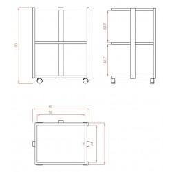 Carrito 3 estanterias Facile+