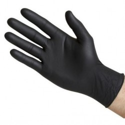 Gants nitrile noir 100 und