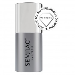 Semilac Top No Wipe Sparkle...